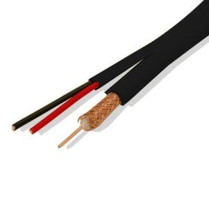 Комбинированный кабель Dialan RG59+2х0,5 ССА черный